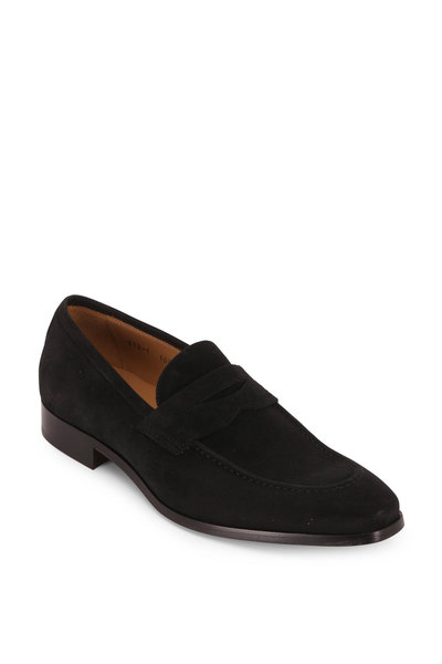 To Boot New York - Tesoro Black Suede Penny Loafer
