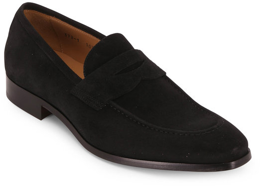 To Boot New York Tesoro Black Suede Penny Loafer