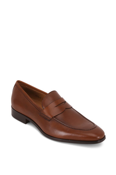 To Boot New York - Tesoro Brandy Leather Penny Loafer
