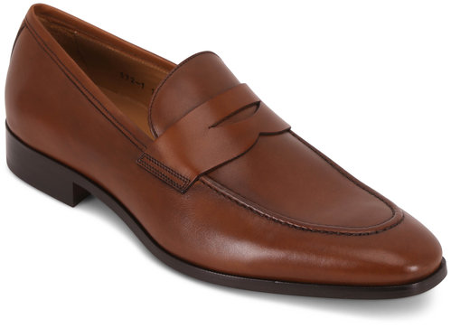 To Boot New York Tesoro Brandy Leather Penny Loafer