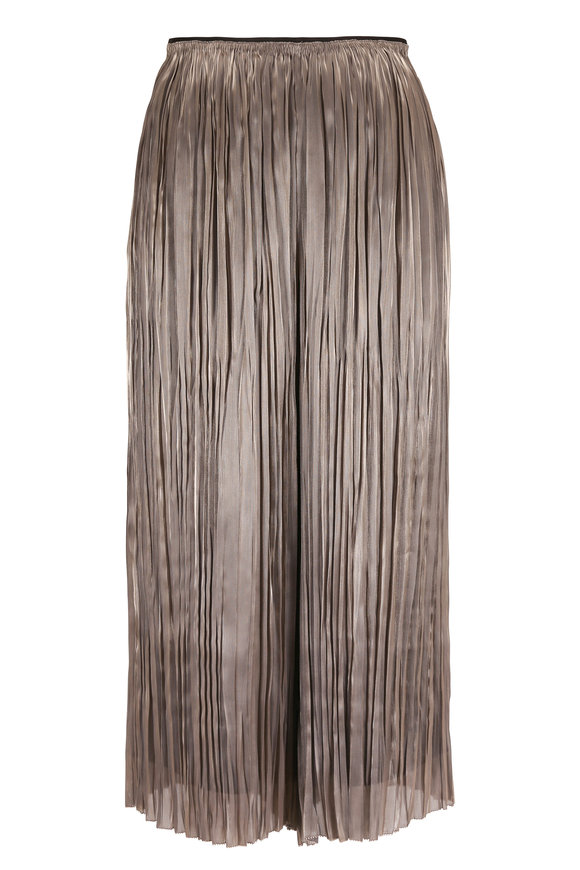 Vince Moonstone Iridescent Pleated Culotte