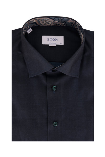 Eton - Solid Navy Blue Contemporary Fit Dress Shirt