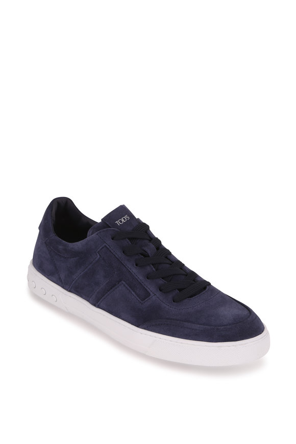 Tod's T Laterale Sport Leggero Navy Suede Sneaker