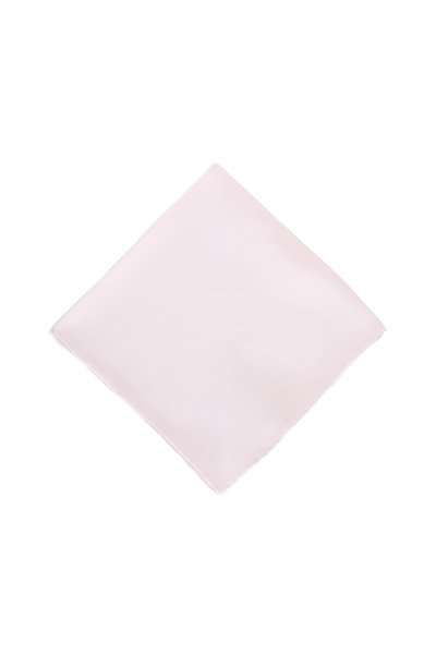 Dion - Solid White Silk Pocket Square
