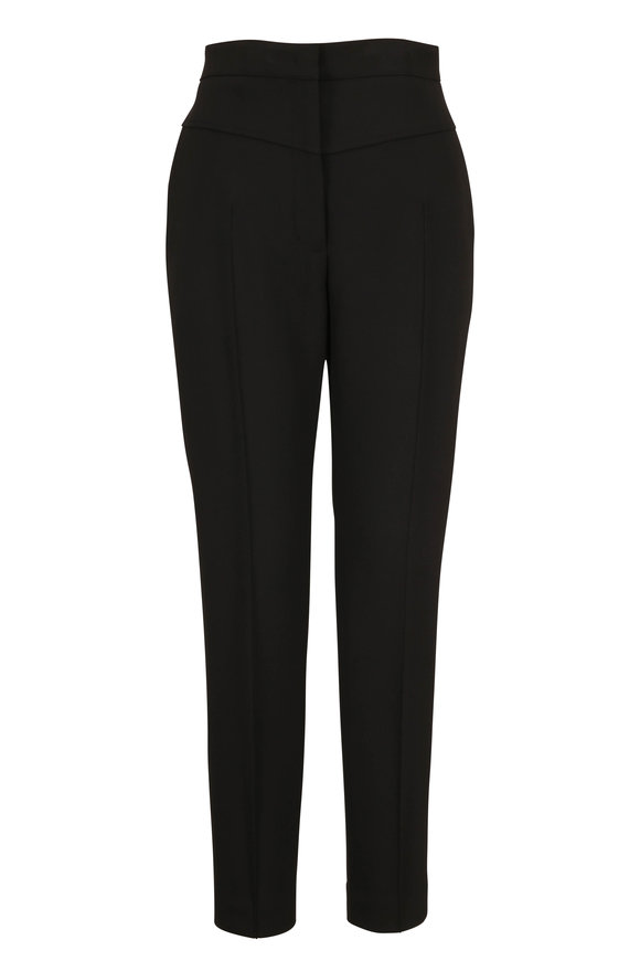 Akris Punto Black Crepe High-Rise Pant