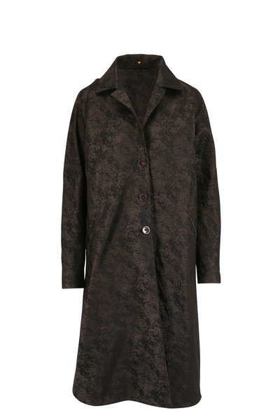 Peter Cohen - Buster Forest Green Textured Coat