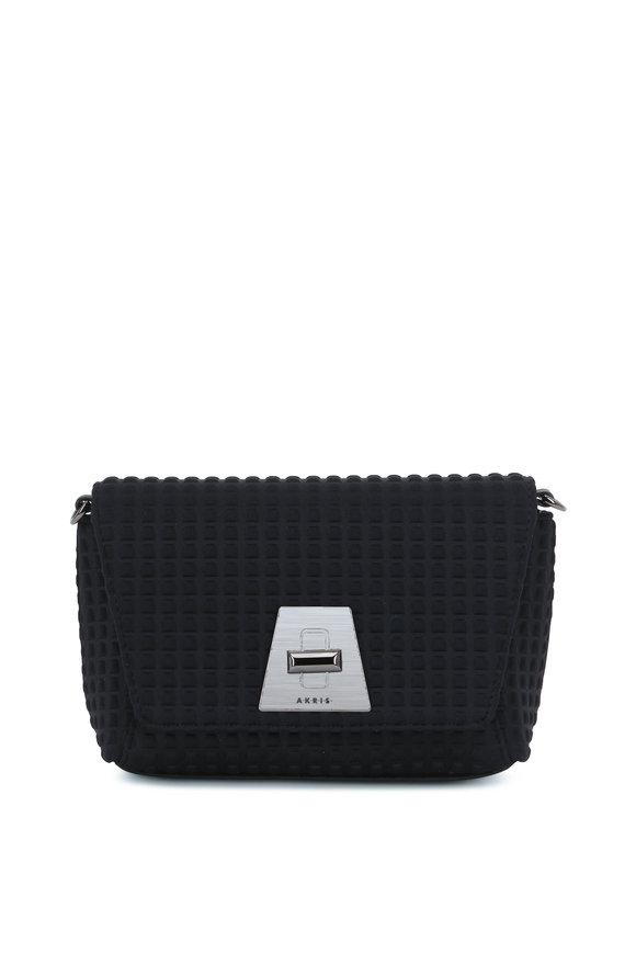 Akris Anouk Black Techno Textured Mini Daybag
