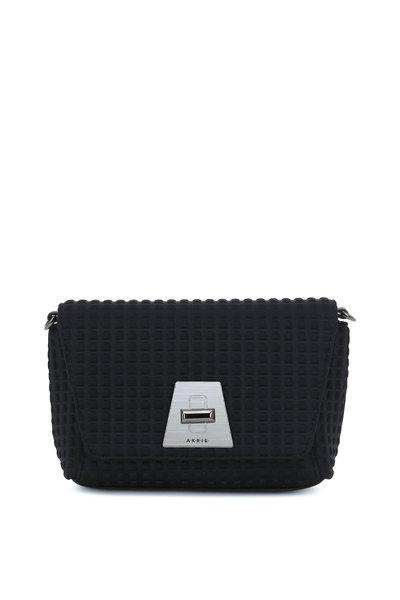 Akris - Anouk Black Techno Textured Mini Daybag