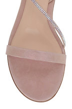 Gianvito Rossi - Rosa Light Pink Crystal Strap Flat Sandal