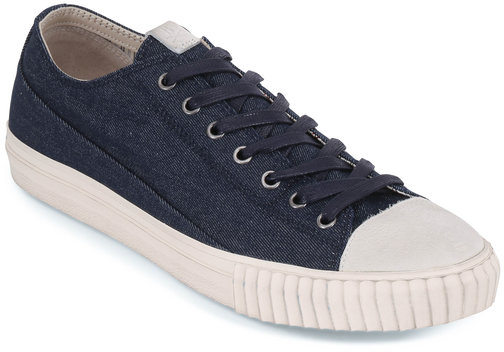 John Varvatos Indigo Vulcanized Canvas Low-Top Sneaker