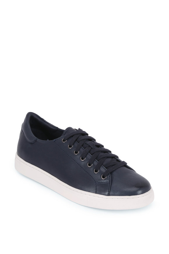 Trask Alder Navy Blue Sheepskin Leather Sneaker