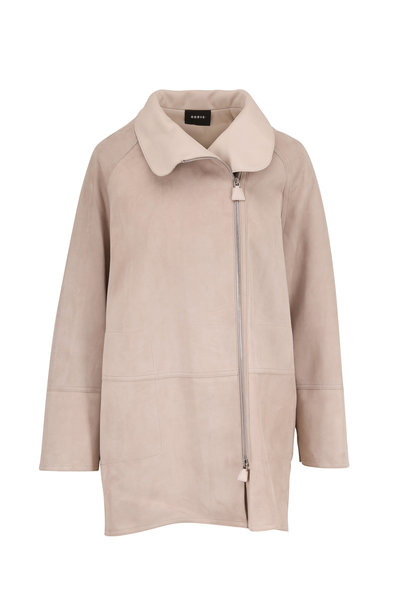 Akris - Fairy Clay Suede Zip Water-Resistant Coat