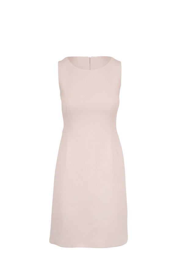 Akris Clay Double-Faced Wool Crêpe Sheath Dress