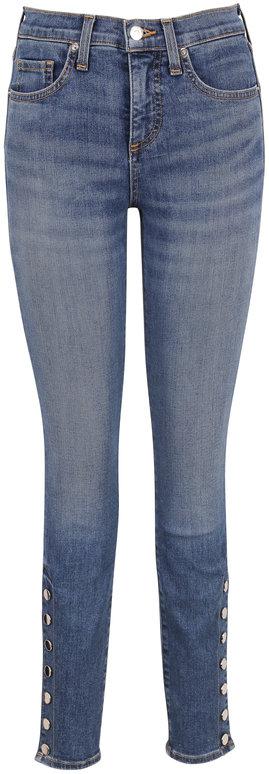 Veronica Beard Brooke Carolina Snap Hem Mid-Rise Skinny Jean