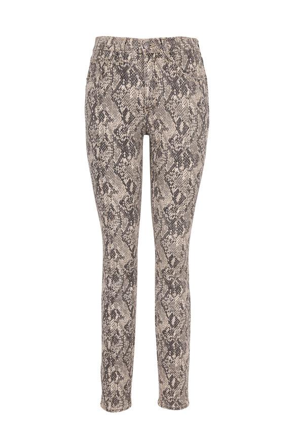 Veronica Beard Kate Nude Snake Print High-Rise Skinny Jean