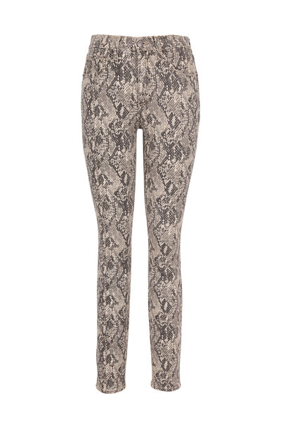 Veronica Beard - Kate Nude Snake Print High-Rise Skinny Jean