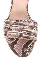 AGL - Snakeskin Print Leather Multi-Band Sandal, 50mm