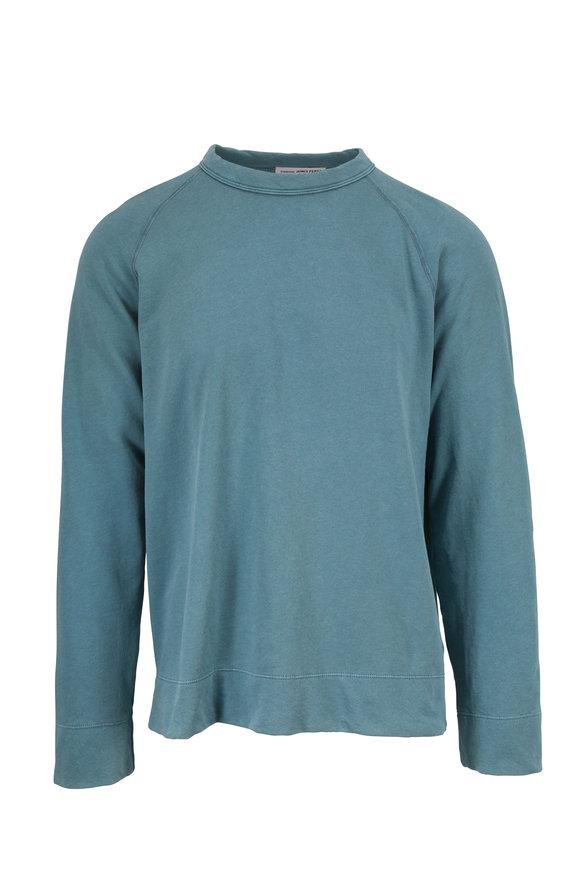 James Perse Sprite Vintage Cotton Crewneck Sweatshirt