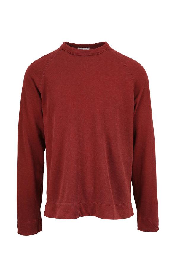 James Perse Claret Vintage Cotton Sweatshirt