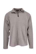 Vince - Heather Gray Quarter-Zip Raglan Sleeve Pullover