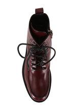Aquatalia - Ira Oxblood Leather Lace-Up Weatherproof Boot