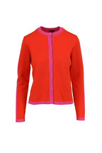 Escada - Singh Tropical Orange & Pink Tipped Cardigan