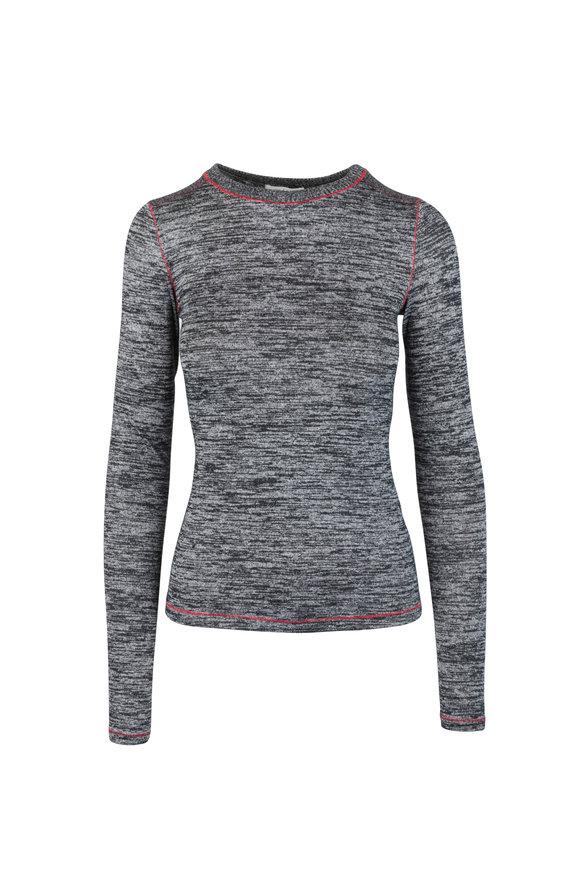 Rag & Bone Avryl Black Heather Long Sleeve Slim Fit T-Shirt