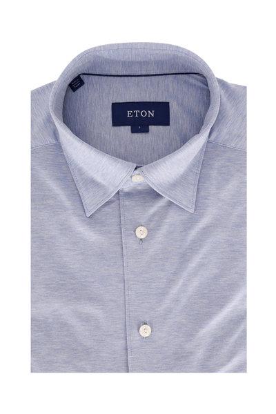 Eton - Light Blue Jersey Knit Sport Shirt
