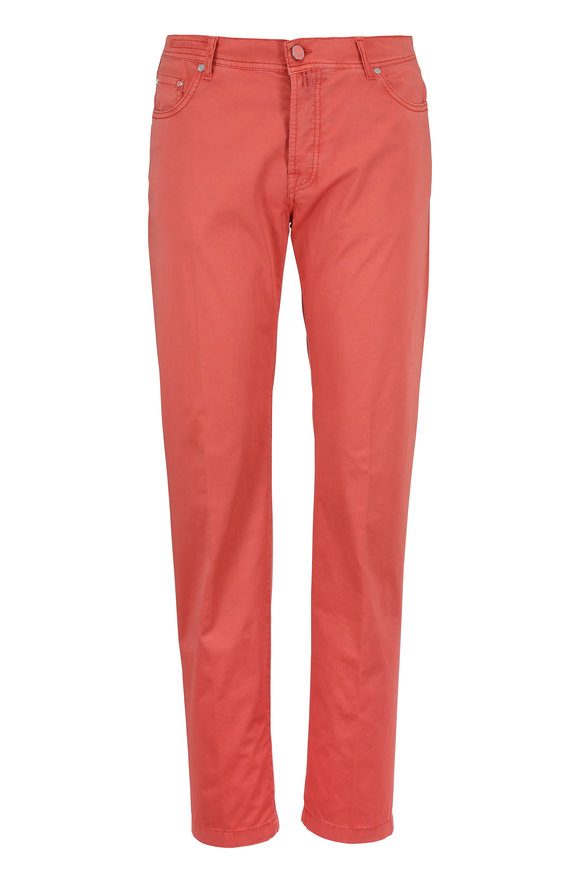 Kiton Salmon Five Pocket Slim Fit Jean