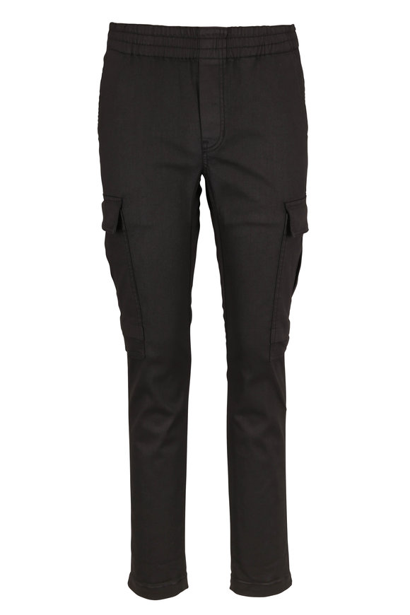 J Brand Fenix Coated Black Cargo Pant