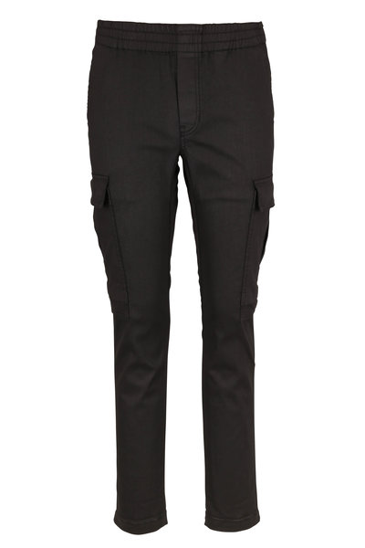 J Brand - Fenix Coated Black Cargo Pant
