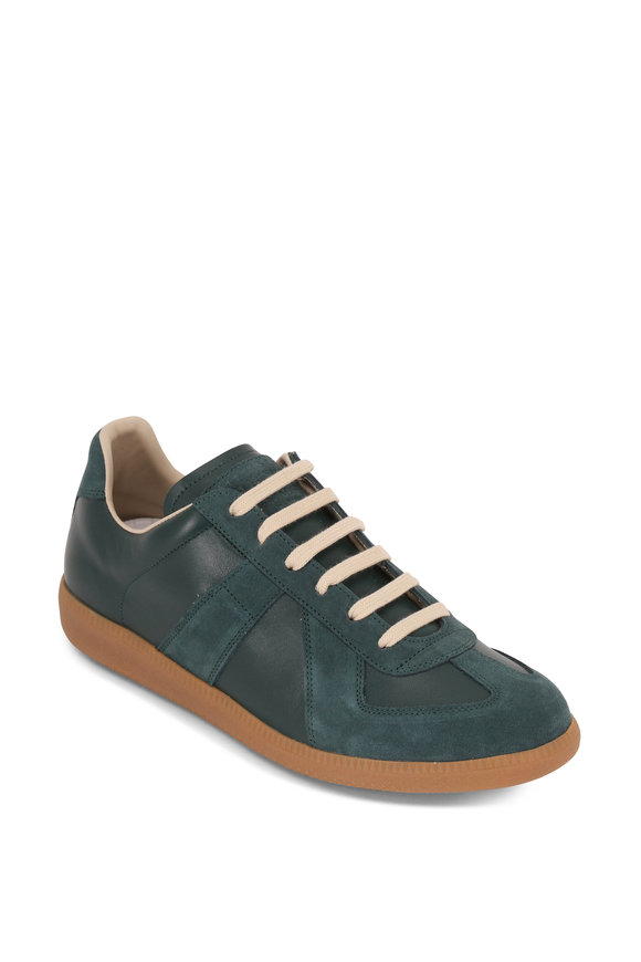 Maison Margiela Replica Serpentine Leather & Suede Low Top Sneaker