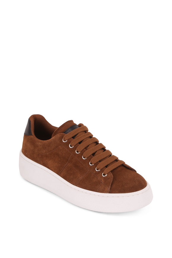 Maison Margiela Game Set Match Tobacco Suede Sneaker