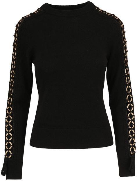 Jonathan Simkhai Black Wool Open Sleeve Sweater