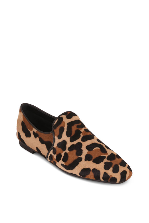Aquatalia Revy Leopard Print Calf Hair Weatherproof Flat