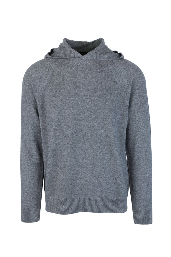 Vince Gray Wool & Cashmere Hooded Sweater