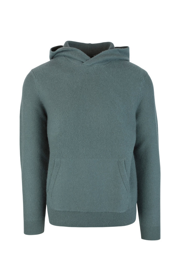 Vince Cilantro Cashmere Hooded Sweater