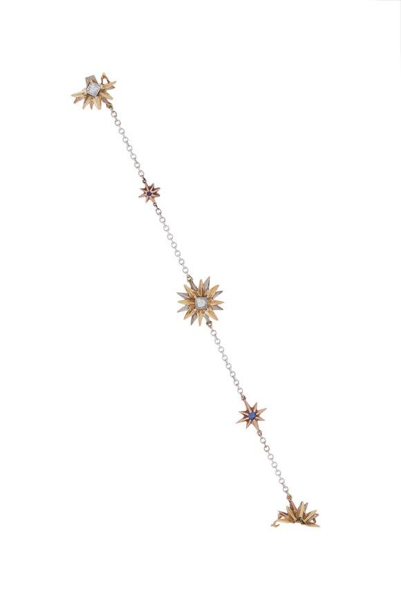 James Banks Gold & Silver Multi Star Bracelet