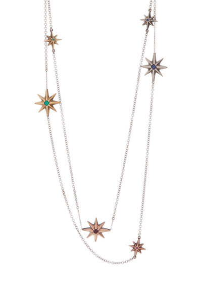 James Banks - Layered Star Necklace