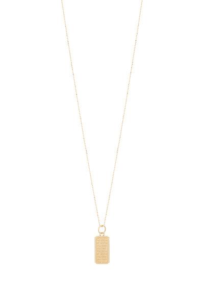 Monica Rich Kosann - Yellow Gold Medallion Ball Chain Necklace