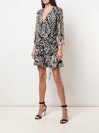 Veronica Beard - Kiran Black & Bone Printed Mini Dress
