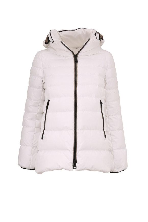 Herno White Short Hooded Puffer Coat