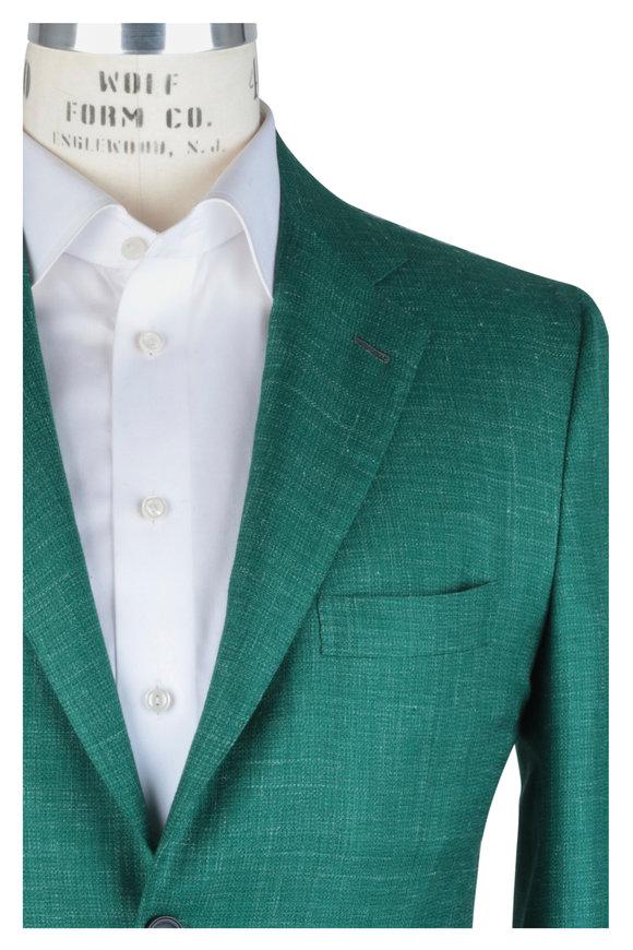 Kiton Green Cashmere, Silk & Linen Sportcoat