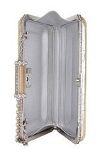 Judith Leiber Couture - Soho Champagne Snakeskin Crystal Detail Clutch