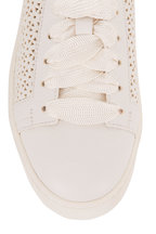 Santoni - Cleanic White Perforated Leather Sneaker