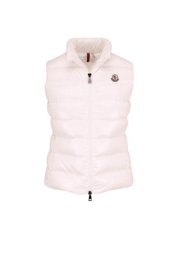 Moncler Ghany White Puffer Vest