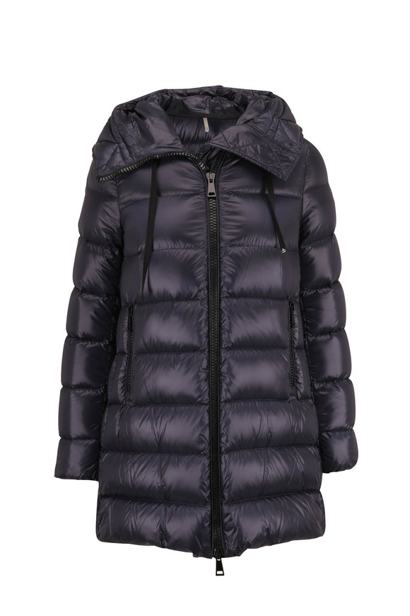 Moncler Suyen Navy Hooded Down Coat
