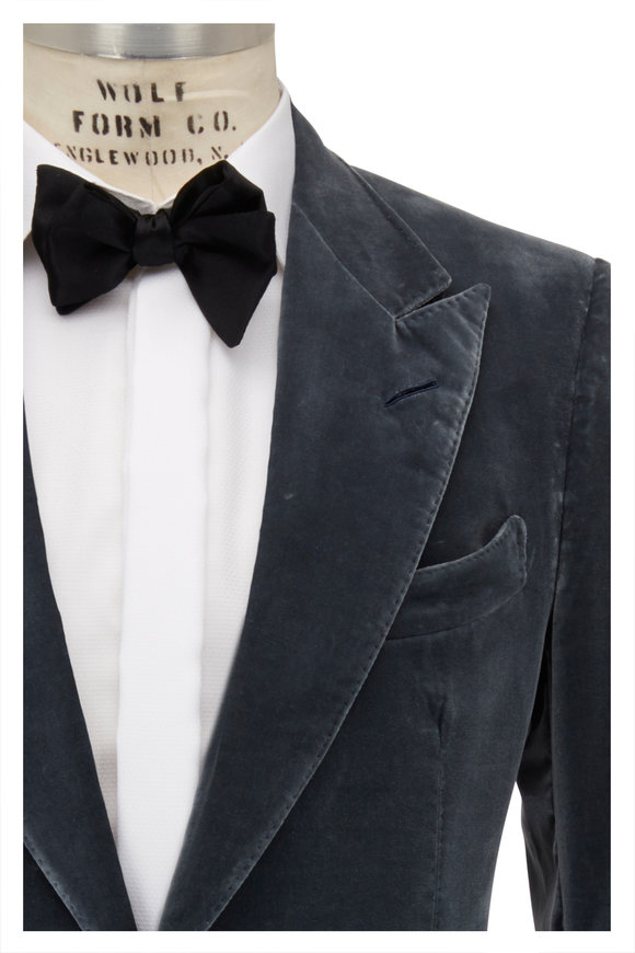 Tom Ford Stone Blue Velvet Dinner Jacket