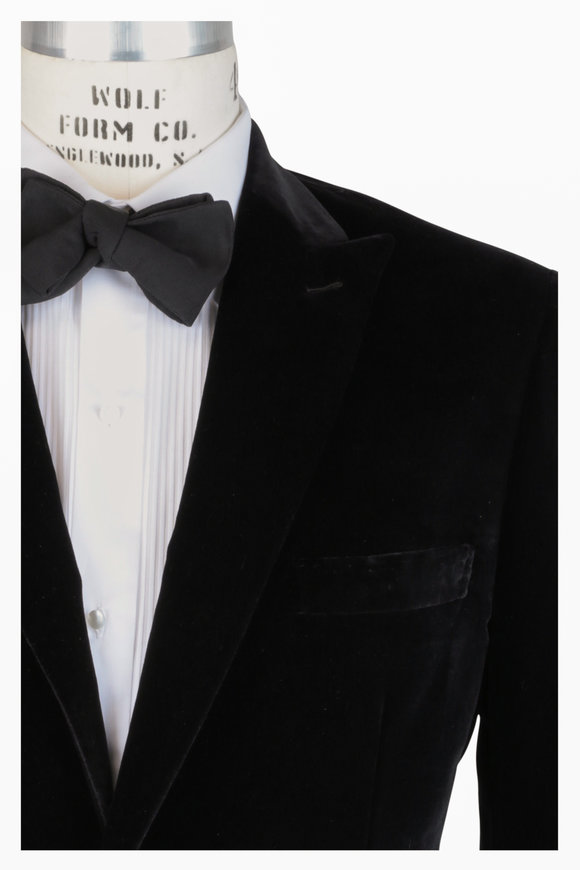 Brioni Black Velvet Dinner Jacket