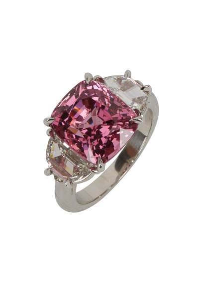 Oscar Heyman - Platinum Pink Spinel Diamond Ring